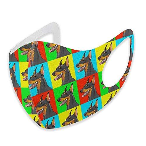 asdew987 Doberman Pinscher - Máscara facial de algodón ajustable para perros y adultos, lavable