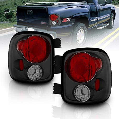 AmeriLite Smoke Replacement Brake Tail Lights for Chevy Silverado : GMC Sierra (Stepside Model Only) - Passenger and Driver Side