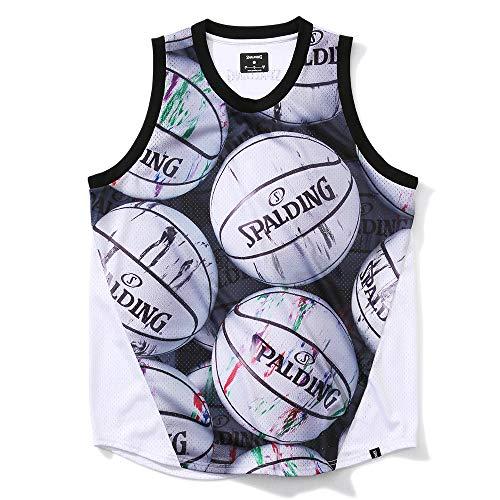 SPALDING(スポルディング) バスケットボール メッシュタンクトップ マーブルボール SMT200240 ホワイト Mサイズ バスケ バスケット