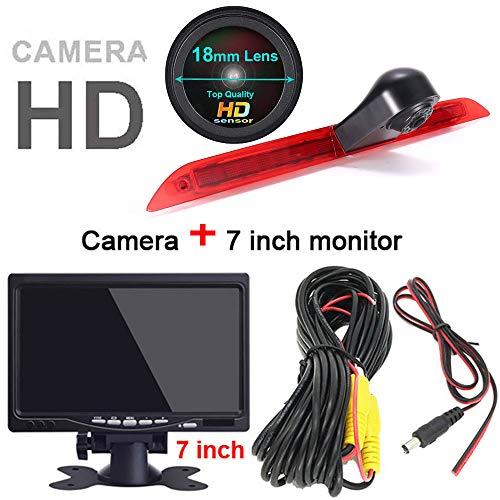 HD IP68 1280 * 720 pixels 1000TV lijnen achteruitrijsysteem achteruitrijcamera remlicht passend met hoek verstellen nachtversie IR-licht dakcamera voor Mercedes Benz V260 V260L / Marco Polo / W447/E Concept, Achteruitrijcamera + 7 inch monitor.
