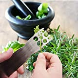Herb Stripper, Stainless Steel Kale and Herb Stripping Tool/ Vegetable Leaf Remover/ Separator, Kitchen Gadgets