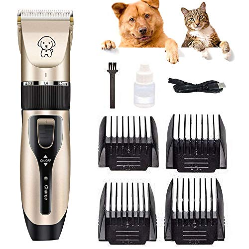 GLR Leise Tierhaarschneider Haarschneidemaschine Schermaschine Hund Katze Haustier, Wiederaufladbare Haarschneider Elektrische - Grooming Clippers