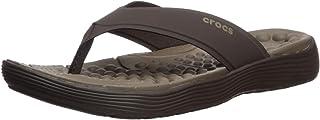 Crocs Men's Reviva Flip Flop, Espresso, 8 UK