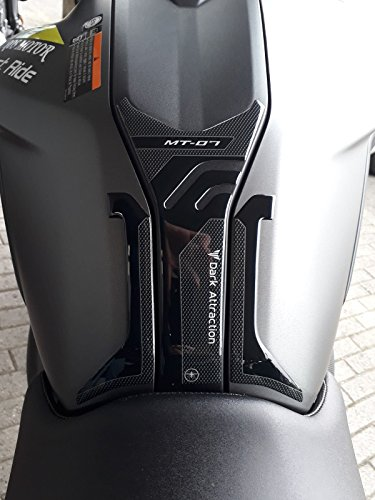 Adhesivo 3D Tanque DE Resina en Gel Compatible para Moto Yamaha MT-07 2018-2020