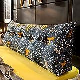 JY&WIN Cojín de cabecera Respaldo Grande extraíble y Lavable Almohada Larga Paquete Suave Respaldo de Tatami para Dormitorio Respaldo de Cama (Color: F Tamaño: 100x23x50CM)