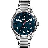 Lacoste Herren Analog Quarz Uhr mit Edelstahl Armband 2011022