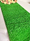 "Luchuan Artificial Grass Table Runner for Table Decoration (12""x 108"")"