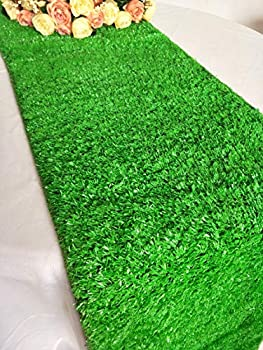 Luchuan Artificial Grass Table Runner for Table Decoration  14  x 78.8