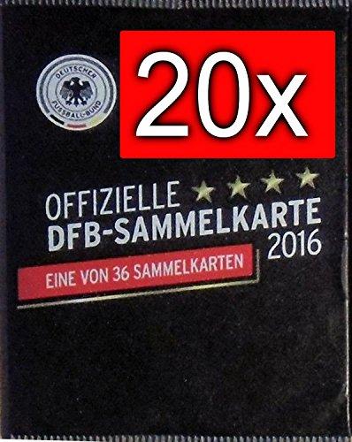 20x DFB Sammelkarte EM 2016 REWE Neu & OVP incl. WIZUALS STICKER