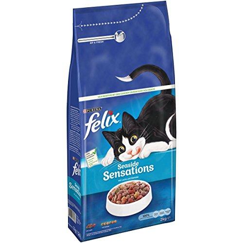 FELIX Seaside Sensations Kattenvoer droog, met zalm en groenten, verpakking van 6 (6 x 2 kg)