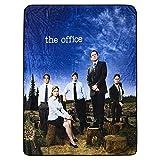 The Office Fleece Throw Blanket - Dunder Mifflin, Michael Scott, Jim, Pam and Dwight Soft Fleece Throw Blanket (Logo)