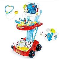 Tastak 子供がおもちゃのふりをする、こどもの日ギフト、「マイリトルドクター」プレイセットカートドクターがおもちゃのふりをする電気シミュレーションECG医療および聴診器キットおもちゃポータブルロールプレイセット
