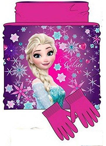Disney Frozen 2 Gecoördineerde Nek Hitte en Handschoenen Elsa en Anna Fuxia