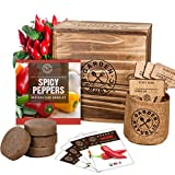 Indoor Garden Pepper Seed Starter Kit - 4 USDA Organic Hot Peppers Seeds for...