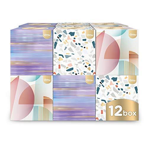 Kleenex Kosmetiktücher Design-Collection, 12er Box (12 x 56 Tücher), Würfel, Großpackung