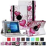 NAUC Tablet Hülle für TrekStor SurfTab Breeze 10.1 Quad/Plus Tasche Schutztasche Cover Schutz Hülle 360° Drehbar Etui hochwertiges Kunst-Leder, Farben:Motiv 6
