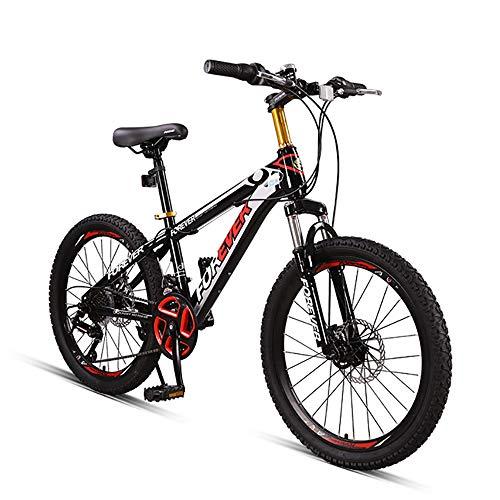 FXD Mountain Bike Mountain Bike da 24 Pollici A 22 Pollici Bicicletta da Fuoristrada per Bambini Che Assorbe Gli Urti 4 Colori Disponibili