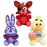 3 Uds 25Cm Juguetes Blandos FNAF Freddy'S Peluches, Muñeco De Peluche Bonnie Duck Fox para Cumpleaños De Niños, Bebés