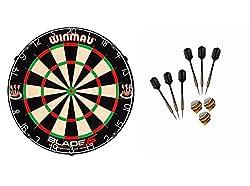 WINMAU Blade 5 Dartboard + McDart Steeldarts (6 Steeldarts)