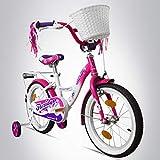 Bergsteiger Monaco 12 Zoll Kinderfahrrad, geeignet für 3 und 4 Jahre, BMX, Stützräder,...