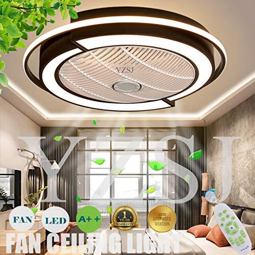 Fan Deckenleuchte LED Deckenventilator Mit Beleuchtung Fernbedienung Leise Dimmbar Einstellbare Windgeschwindigkeit Schlafzimmer Wohnzimmer Kinderzimmer Esszimmer Deckenlampe,Schwarz,58CM