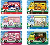 6pcs NFC Cards for Animal Crossing Sanrio NFC Amiibo Cards Collaboration Pack, (Rilla, Marty, étoile, Chai, Chelsea, Toby). Compatible Switch New Horizons.