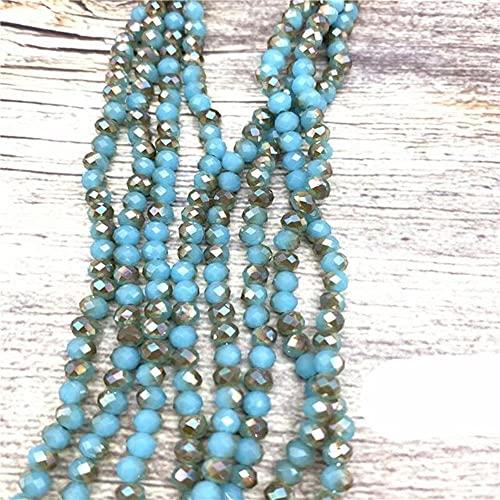 2X3mm / 3X4mm / 4X6mm Crystal Rondel Beads Venta al por mayor AB Color Cut Faceted Round Glass Beads para la fabricación de joyas Accesorios de pulsera-48,4X6mm-92pcs