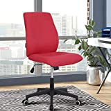 Office Desk Chair (2021 New) Armless Computer with Wheels Studio Mid Back Ergonomic Mesh Task Rolling Spinning Swivel Adjustable Desktop Conference No Arms Lumbar Support for Small Spaces