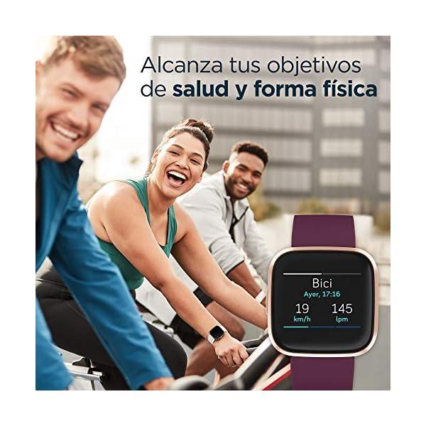Fitbit Versa 2, Smartwatch con control por voz, puntuación del sueño y música, batería de +4 días 5