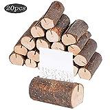 20 Stück Holz Holzsteg Tischkartenhalter Platzkartenhalter Holz Kartenhalter Hochzeit Fotohalter