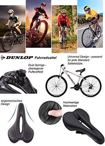 Dunlop FGM19 ergonomicher Mountainbike MTB Fahrrad Sattel, Damen u. Herren Komfort Fahrradsattel, atmungsaktiv, Stoßresistenter weicher Mountain Bike Gelsattel, Rennrad Trekking Rad Sitz, schwarz - 6