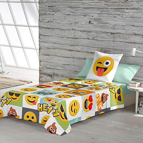 Emoji Juego de sábanas Hey Cama 90 cm