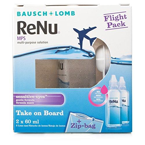 Bausch & Lomb ReNu MPS Mehrzweck Kontaktlinsen Lösung–Flight Pack