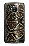 Innovedesire Anaconda Amazon Snake Skin Graphic Printed Hülle Schutzhülle Taschen für Motorola Moto E4