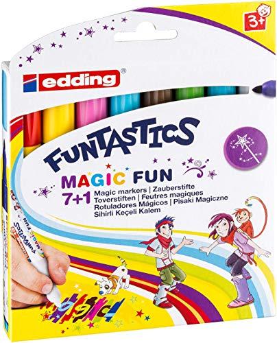 edding 4-13-8 Fasermaler Magic Marker Funtastics, 8-er Set, circa 3 mm