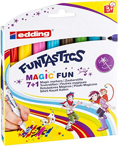 edding 4-13-8 Fasermaler Magic Marker Funtastics, 8-er Set, circa 3 mm