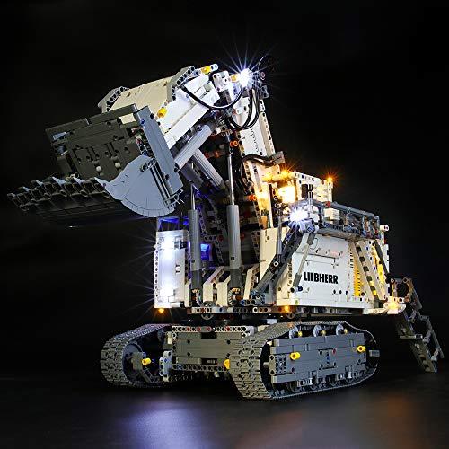 lego technics liebherr BRIKSMAX Kit di Illuminazione a LED per Lego Technic Escavatore Liebherr R 9800
