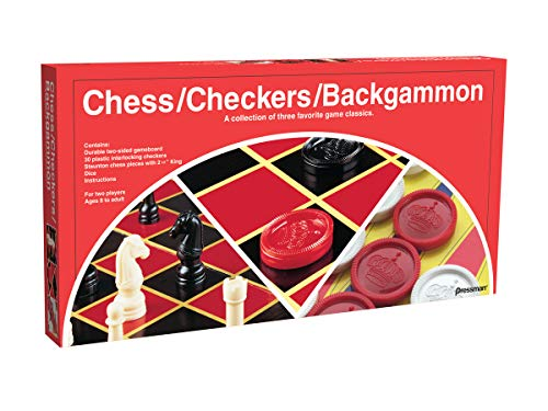 Chess / Checkers / Backgammon - 3 Games in One