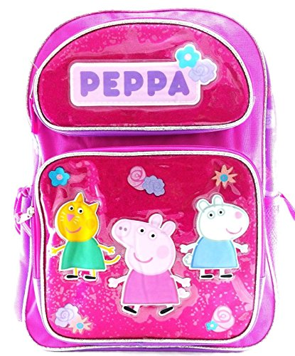 Entertainment One Peppa Pig Girls 16' Canvas Pink & Purple School Backpack