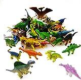 kang 78 Pack Mini Dinosaur Figure Toys - Plastic Dinosaur Set for Kids Toddler Education, Including T-rex, Stegosaurus, Monoclonius, etc
