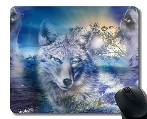 Spiel-Mäusematte, Tierwolfohren Mousepad Rutschfeste Gummiunterlage