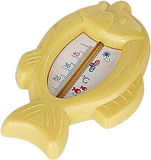 Thermom/ètre B/éb/é Flottant De Leau De Poisson En 10-50 Celsius Plastique Flotteur Bain Jouet Capteur De Bain Capteur Bleu