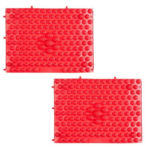 Exceart Fußmassagematte Fußreflexzonenmassage Pads für Schmerzlinderung Und Auslösepunkt Release 2 Stücke (Rot)