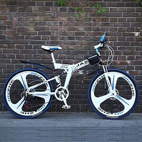 CSS Mountain Bike Folding Bikes, 26 inch Double Disc Brake...