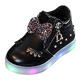 [Luasify_子供靴] キッズ 光る シューズ ちょう結び ジッパー 可愛い ベビーシューズ 外出 滑り止め スニーカー 女の子 通学靴 ガールズ ハイカットスニーカー 発表会 プレゼント アウトドア トラベル