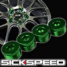 4 Flat Cap Set For Sickspeed Extended Tuner Lug Nuts Wheel/Rim/Tire P2 Green for Porsche Cayenne