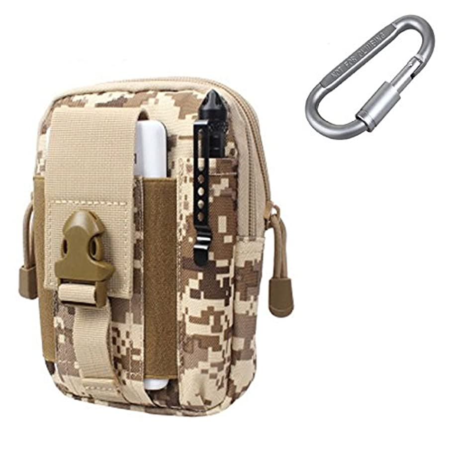 ZJtech Tactical Molle Pouch Compact EDC Utility Gadget Waist Bag Pack with Cell Phone Holster for iPhone 6 Plus