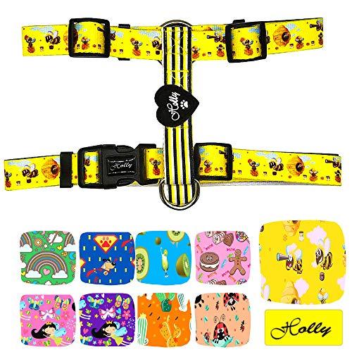 Holly Mascotas Arnés clásico Premium para Perros Pequeños Medianos y Grandes Ajustable, Confort, arnés de Perro de Nylon.