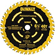 DEWALT 6-1/2-Inch Circular Saw Blade, 40-Tooth (DW9196)