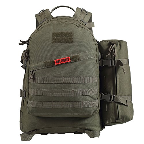 OneTigris 50L 3 Day MOLLE Tactical Military Assault Backpack Outdoor Sport Camping Hiking Trekking Bushcraft EDC Survival Rucksack (Ranger Green)